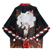 Haori - Nine Tailed Fox Kimono Cardigan New Item - Foxtume