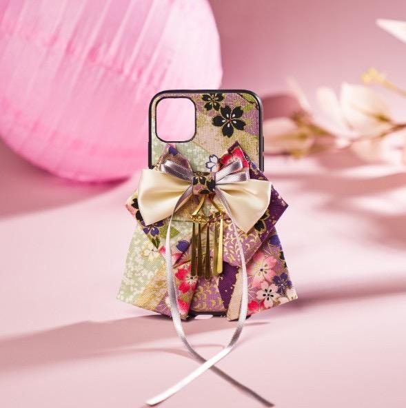 Purple Bow attached phone case | Foxtume