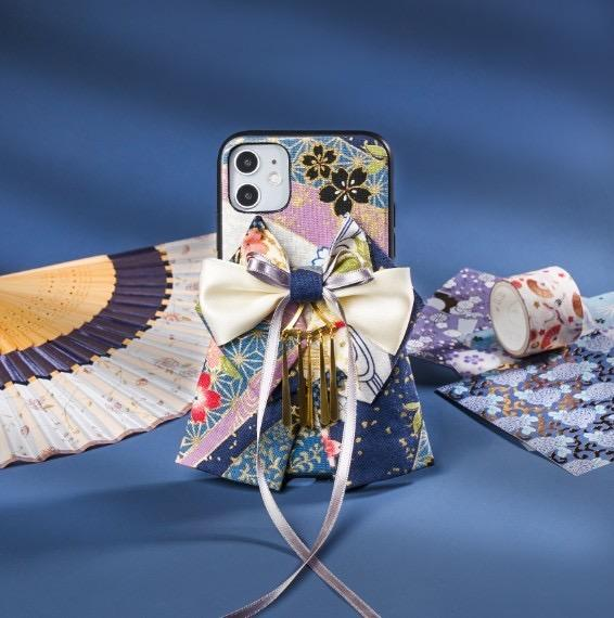 Bow attached blue phone cases | Foxtume