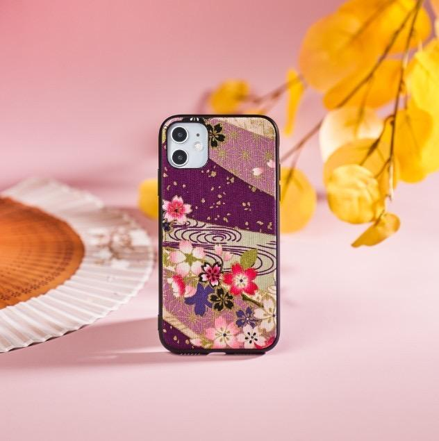 Purple sakura pattern phone case | Foxtume