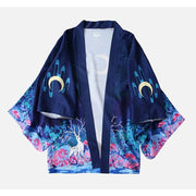Haori | Reindeer Under The Moon Kimono Cardigan | Foxtume