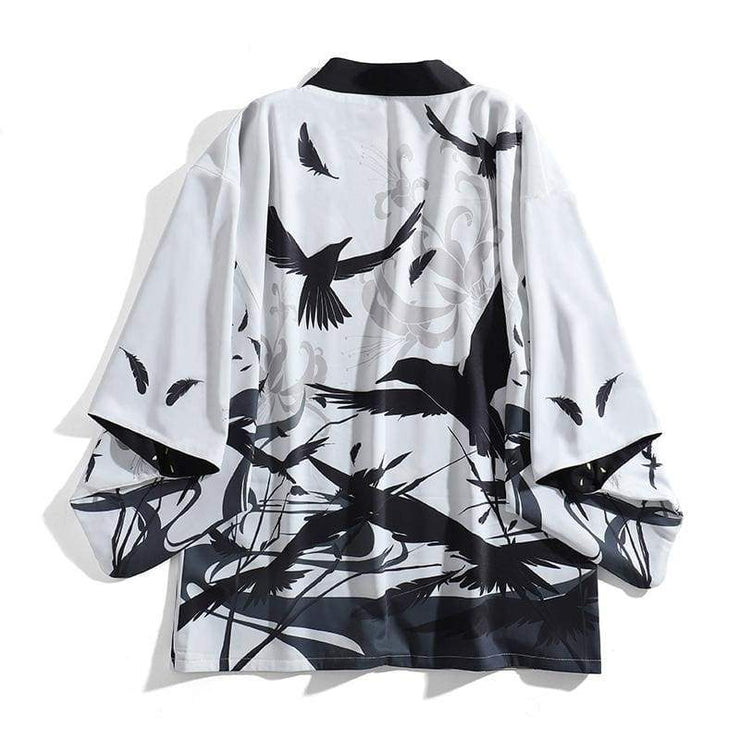 Haori | Reversible Day And Night Crow | Foxtume