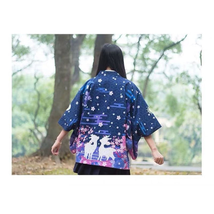 Haori | Reversible Day & Night Deer Couple | Foxtume