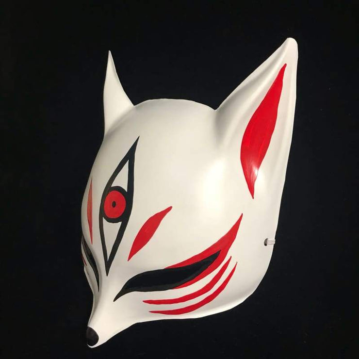 Kitsune Mask | Sharp Ears - The Third Eye In Red | Foxtume