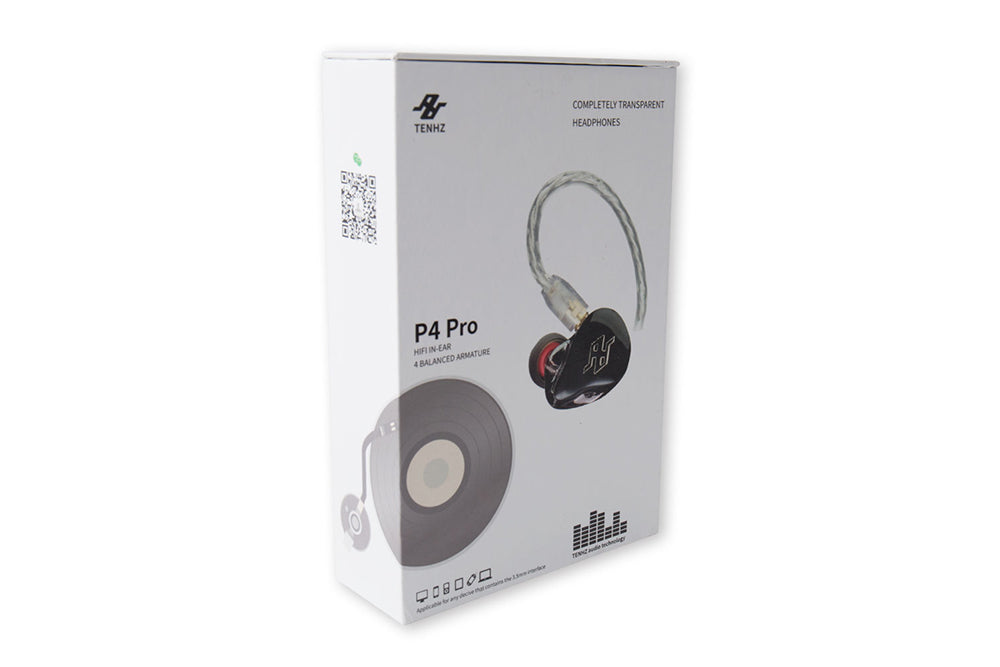 TENHZ P4 PRO 4BA Knowles Balanced Armature Earphone With MMCX Noise Cancelling In-Ear Monitor Earphones
