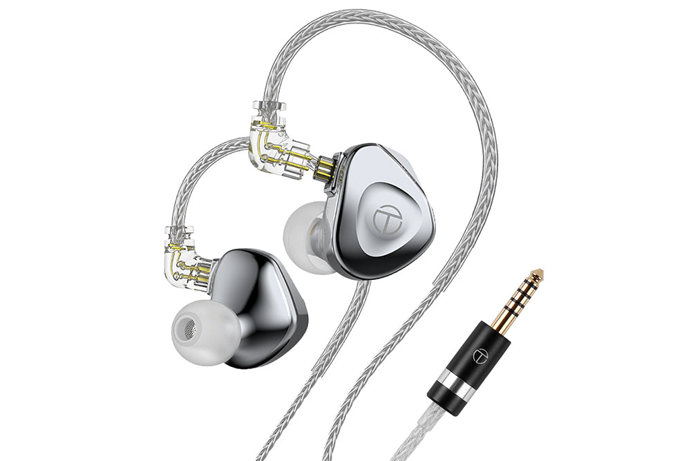 TRN BA15 15BA Drivers Flagship In-Ear Monitor Earphone con 16 Core Silver-Plated OCC Copper Cable