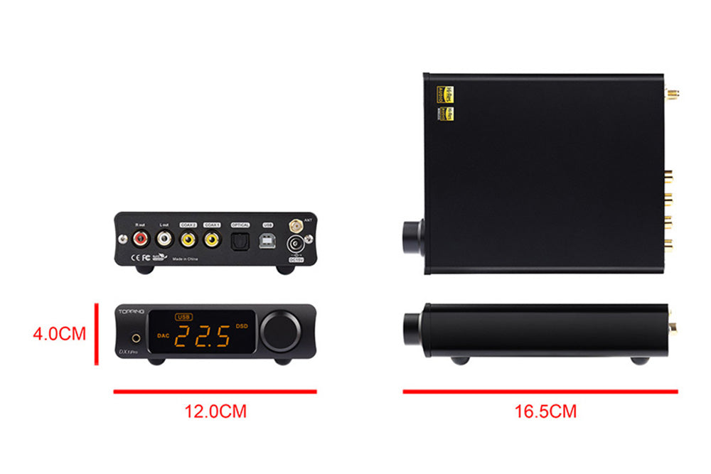 TOPPING DX3 Pro LDAC Edition AK4493 TPA6120A2 Hifi USB Bluetooth DSD512 DAC Headphone Amplifier
