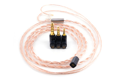Moondrop PCC Coaxial OCC Copper Wire 6N Pure Single Crystal Copper Professional Interchangeable Cable