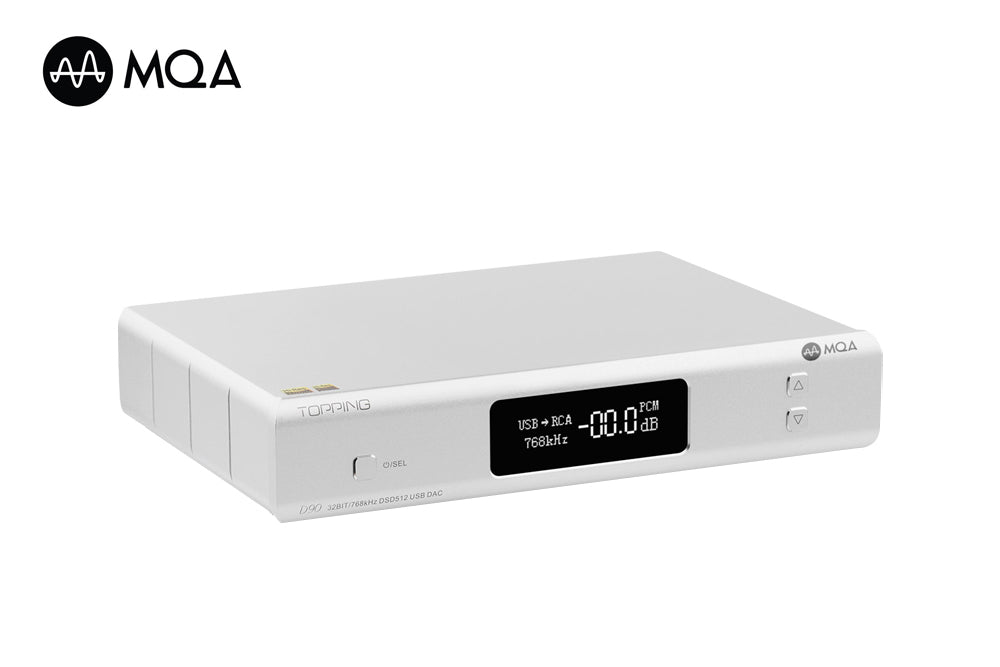 TOPPING D90 MQA AK4499 AK4118 Full Balanced DAC Bluetooth 5.0 DSD512 Hi-Res Decoder