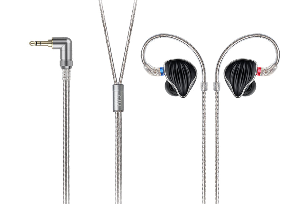 FiiO FH5 1DD+3BA Quad Driver Hybrid With Detachable MMCX Cable Monitors HiFi In-Ear Earphone