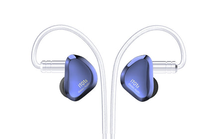 iBasso IT01S DiNaTT Dynamic Driver Audiophile Monitors With 2.5mm MMCX Balanced Cable In-Ear Earphone