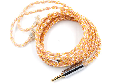KZ Gold Silver and Copper Cube Mixed Upgrade Cable con 3.5mm Gold-Plated Straight Plug