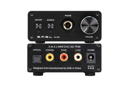 SMSL SD-793II Headphone Amplifier PCM1793 DIR9001 DAC Digital Audio Decoder