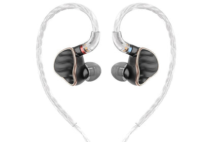 FiiO FH7 4BA+1DD HiFi Audio Hi-Res Beryllium PVD Hybrid with MMCX Detachable Cable In-Ear Earphone