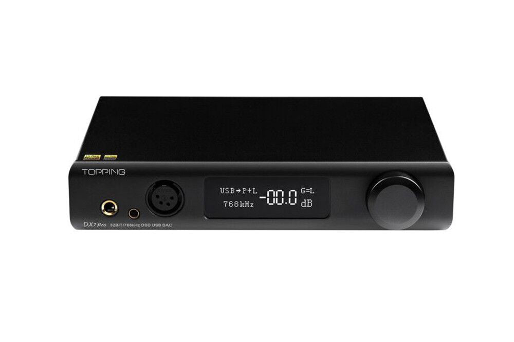 TOPPING DX7 Pro ES9038Pro DAC & Headphone amp Bluetooth 5.0 32BIT/768kHz DSD1024 Wireless Decoder Headphone Amplifier