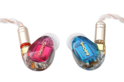 SHOZY&NEO CP Red-Blue 3BA Earphone HiFi Premium Customized ACG IEM Earphones