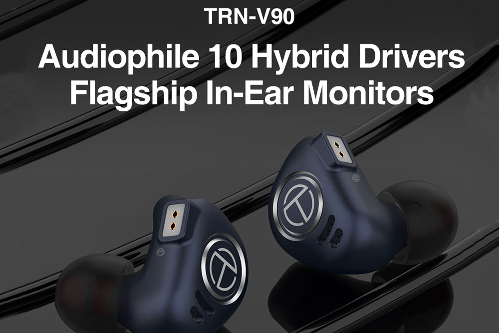 TRN V90 Earphones 4BA +1DD Hybrid Units HIFI Bass Earbuds Monitor Earphones Noise Cancelling