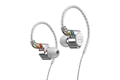 TRN TA1 1BA+1DD Hybrid In-Ear Monitor Earphone with Silver-plated OFC Copper Barided MMCX Cable