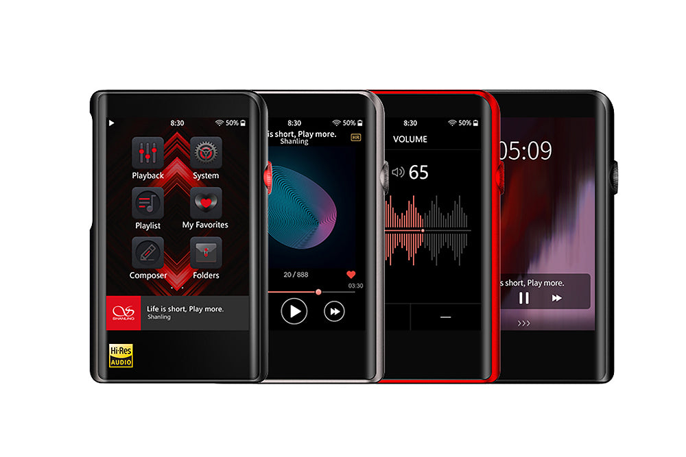SHANLING M2x Verlustfreie Musik MP3-Player im Auto MP3-Player mit Bluetooth-ausgeglichenem Ausgang HiFi-Klangqualität tragbarer MP3-Player