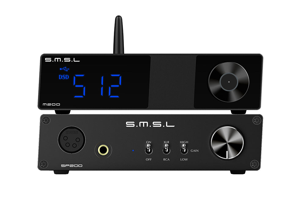 SMSL M200 DAC AK4497EQ Bluetooth 5.0 32Bit/768KHz DSD512 Decoder with Remote Control