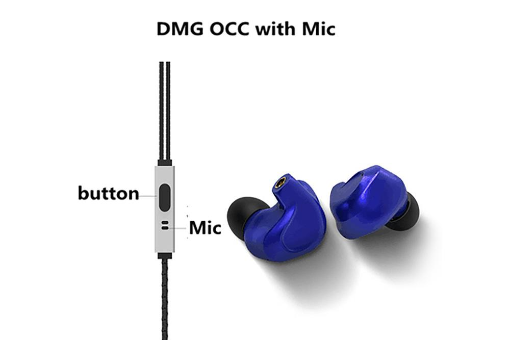 BGVP DMG HIFI Hybrid Earphone 2DD+4BA In-Ear Earphones with Detachable MMCX Replaceable Cable