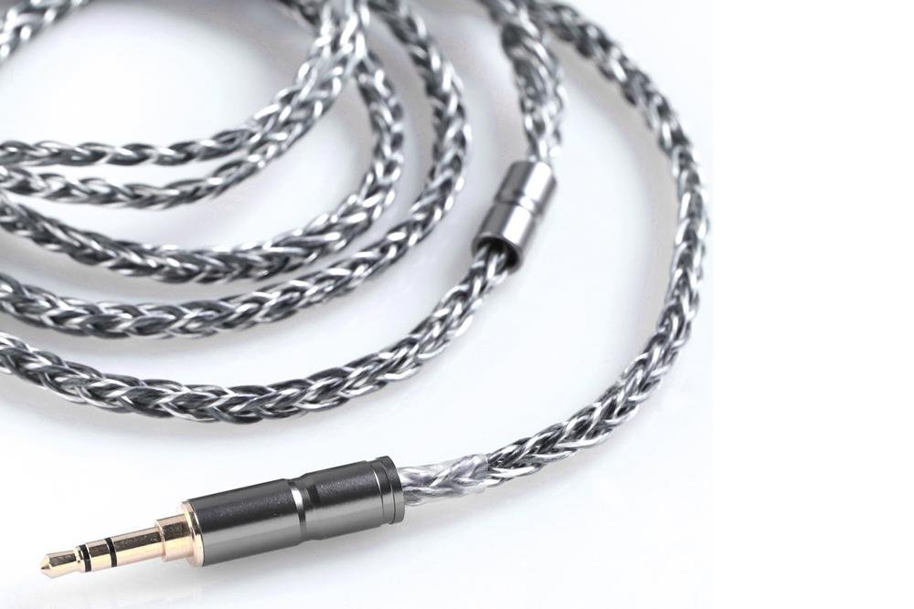 BGVP Earphone Cable 8 core 6N 400 core OCC single crystal copper Silver plated HIFI headphone upgrade MMCX cable