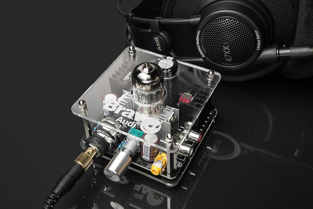 Bravo Audio V2+ Upgrade Class A Gold Lion ECC82 Tube Multi-Hybrid Headphone Amplifier