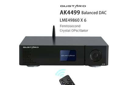 GUSTARD DAC-A18 AK4499 Balanced DAC LME49860*6 Decoder with Remote Control