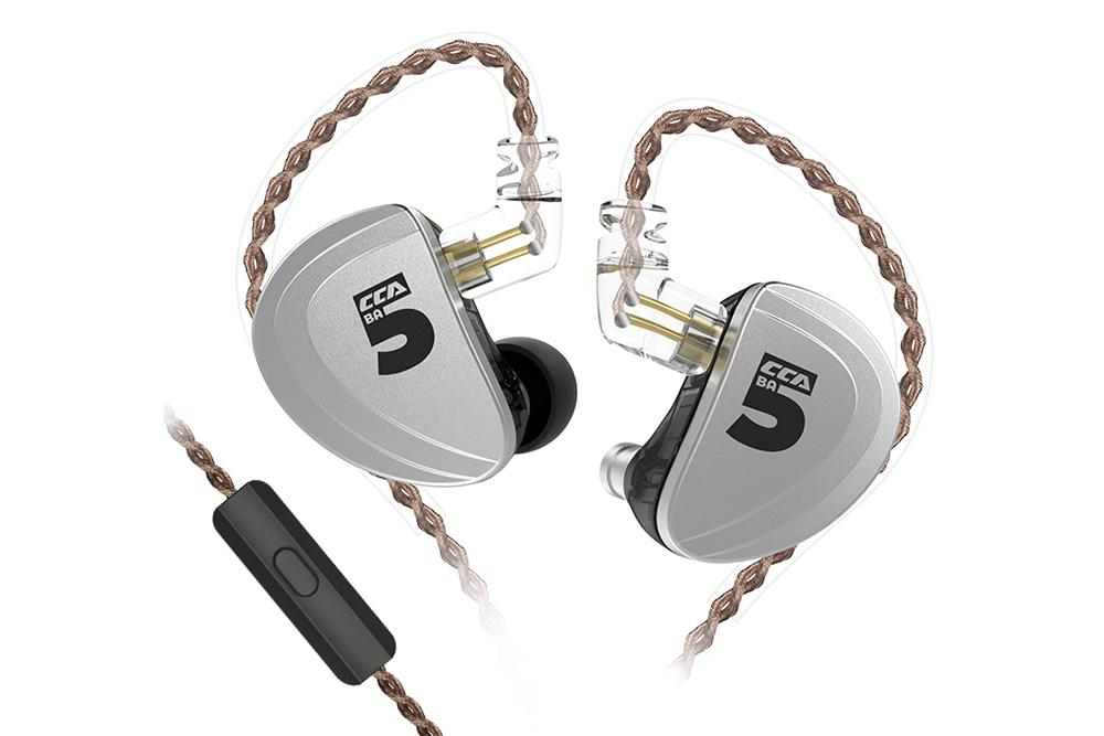 CCA A10 Ten Unit Balanced Armature Wired-Controlled Earphone with 0.75mm Changeable Cable