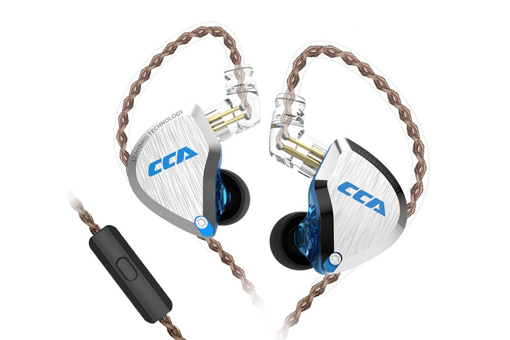 CCA C12 Earphone Hybrid technology 12 unit In-Ear Noise Reduction HiFi Earphone