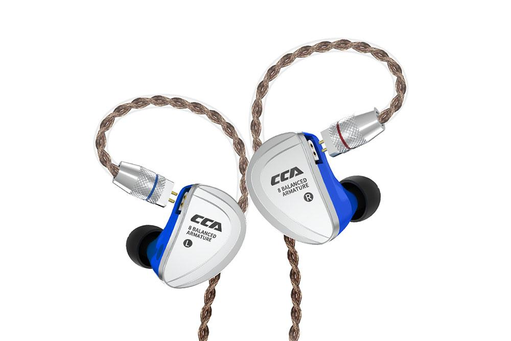 CCA C16 8BA HIFI Monitor Headphone 8 Balanced Armature In-Ear Earphone With Detachable Detach Cable