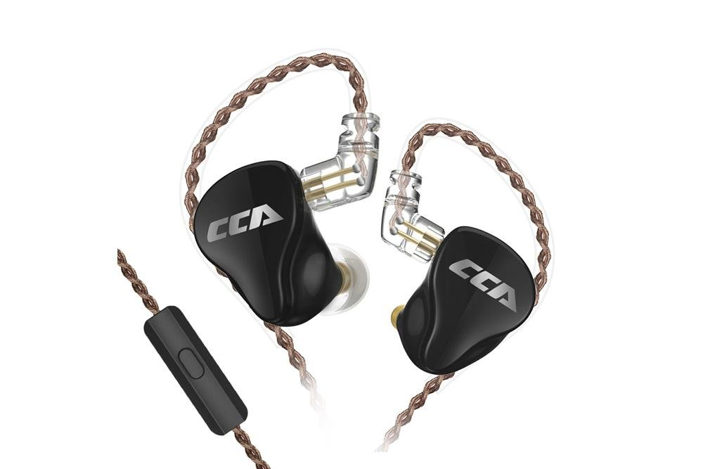 CCA CA16 1DD+7BA 16 Unit Hybrid Technology Earphone 3.5mm Plug In Ear Exchangeable Cable HIFI Earphone