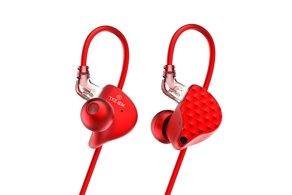TFZ KING III Red Limited Edition Dynamic Monitor In-Ear Earphones with Detachable cable