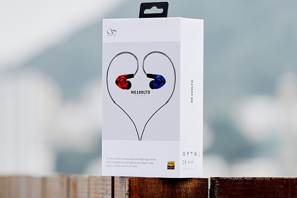 SHANLING ME100 Hi-Res Dynamic Earhones Water Droplets Shape High Fidelity HIFI In-Ear Earhones with MMCX cable connector