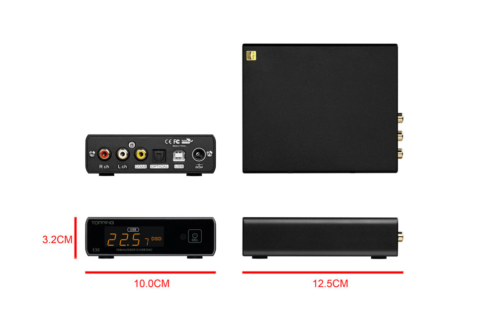 TOPPING E30 DAC AK4493 XU208 32bit/768k DSD512 Touch Operation with Remote Control Hi-Res Decoder