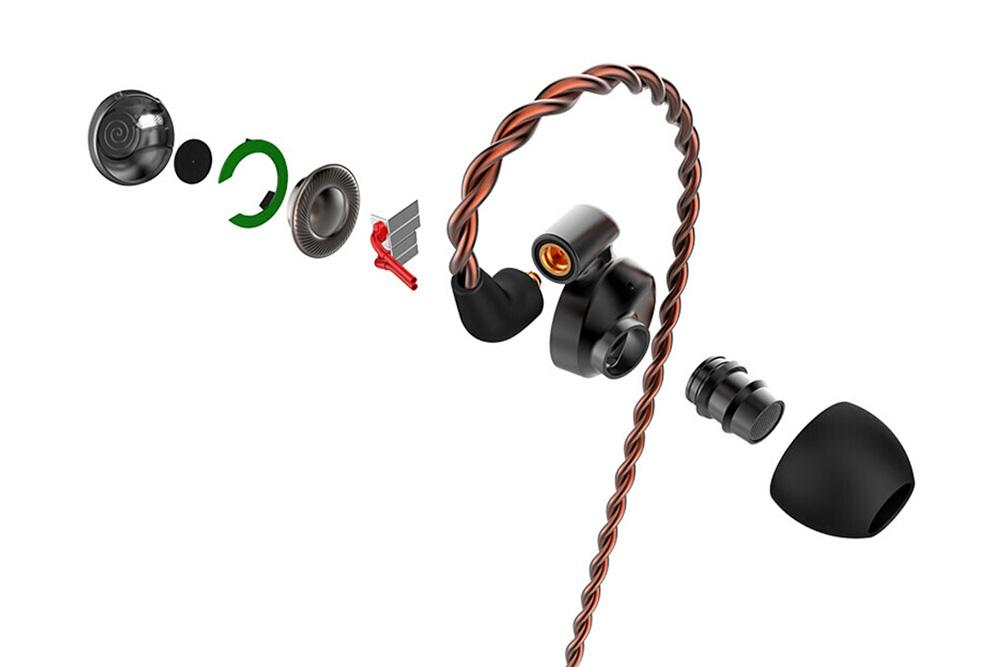 DUNU DK-4001 4BA+1DD Hybrid Sports Wired In-Ear Earphone with MMCX Detachable Cable