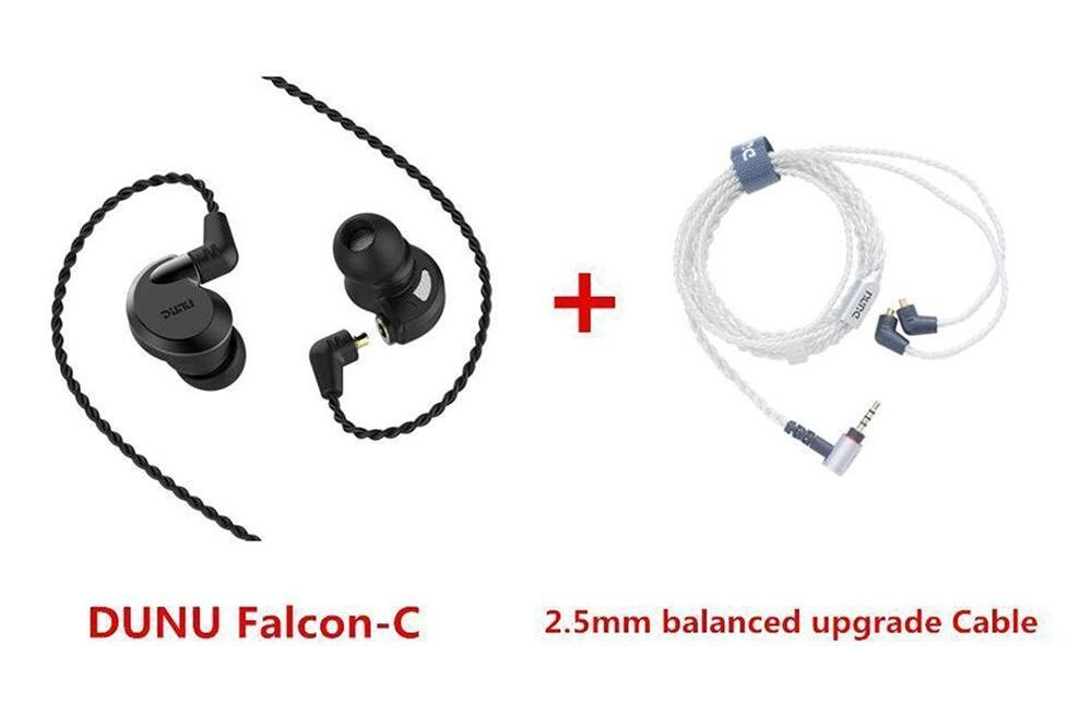 DUNU Falcon-C Dynamic Driver Flagship IEMs Audiophile Falcon C In-ear Detachabl Earphones