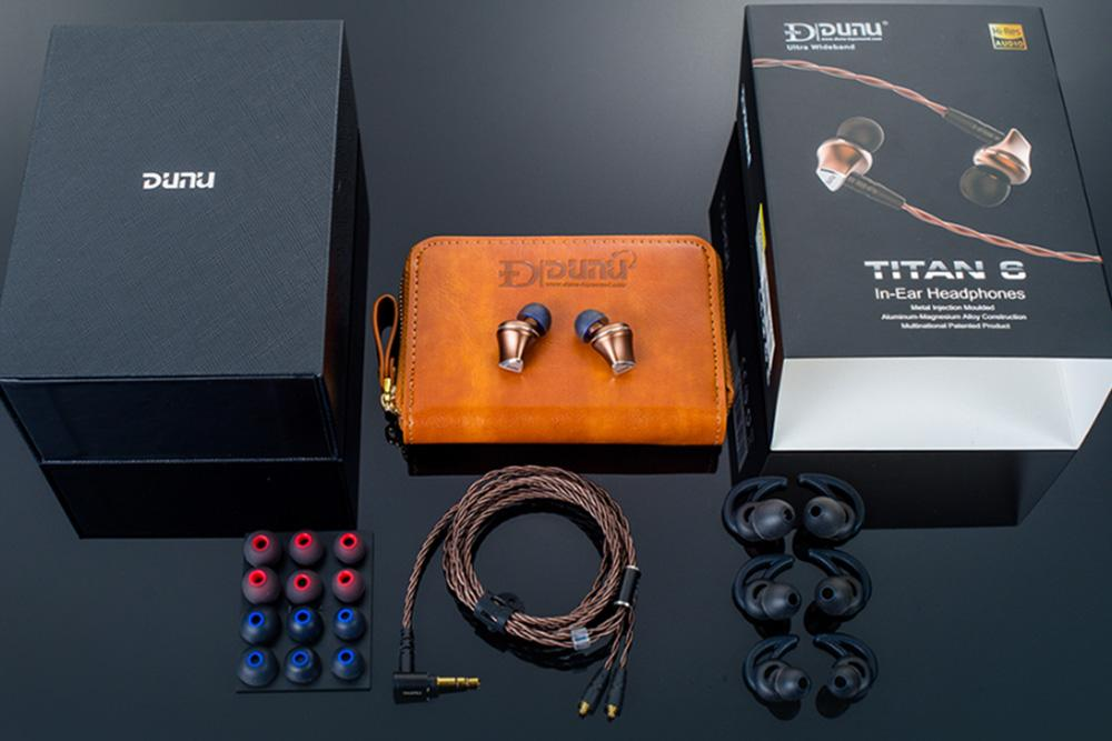 DUNU TITAN-6 Dynamic 12.6mm Beryllium Diaphragm Sports Wired Earphones