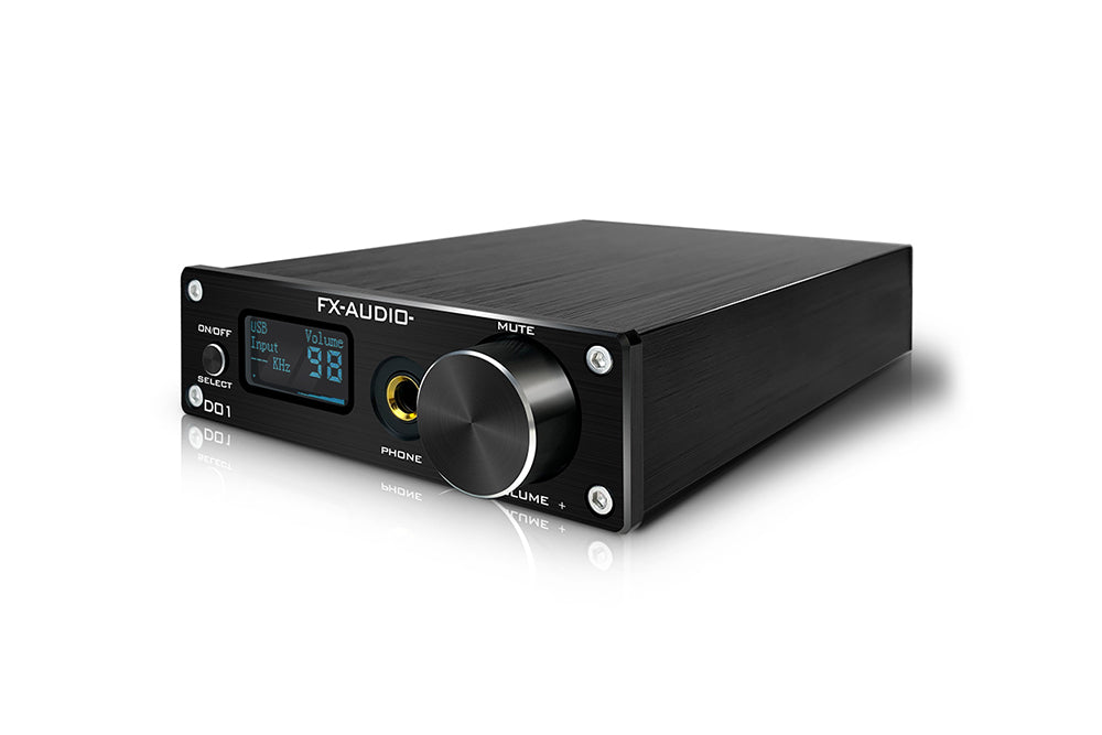 FX Audio D01 DAC AMP Bluetooth 5.0 CSR8675 ES9038Q2M DAC 32Bit 768kHz DSD512 XU208 Line Out 6.35mm Decoder