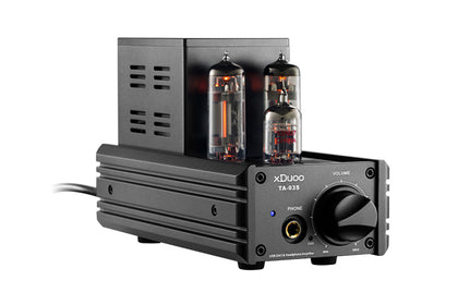 XDUOO TA-03S Headphone Amplifier CS4398*2 XMOS U8 USB DAC 12AU7 6C19 Tube Desktop Headphone Amplifier 32Bit/192KHZ Native DSD128