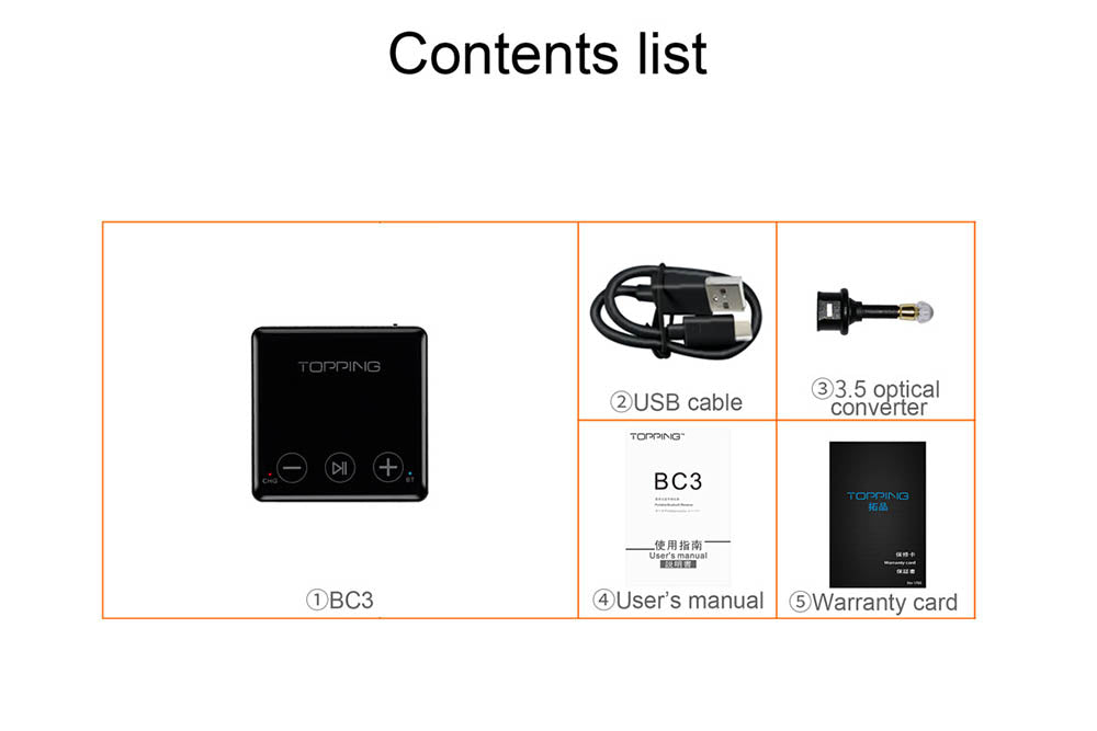 TOPPING BC3 CSR8675 Bluetooth 5.0 LDAC Receiver ES9018Q2C DAC Chip S/PDIF OPT Output Small Decoder