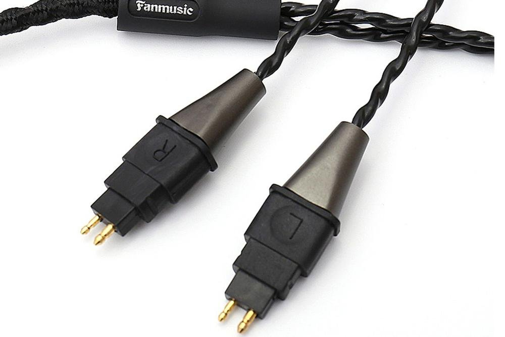 Fanmusic C6 Oxygen-free copper Cables 6.3 mm/4-pin XLR plug Headphone Upgraded Cable for HD580 HD600 HD650 HD6XX