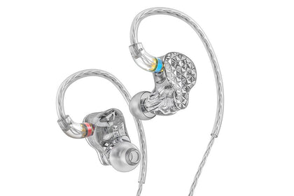 FiiO FA9 Knowles 6 Balanced Armature Driver In-Ear Earphone Auricolari HiFi con cavo di rame placcato argento MMCX staccabile