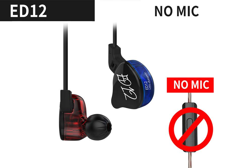 KZ ED12 Dynamic Earphone Monitors Noise Isolating HiFi Music Sports In Ear Earphone