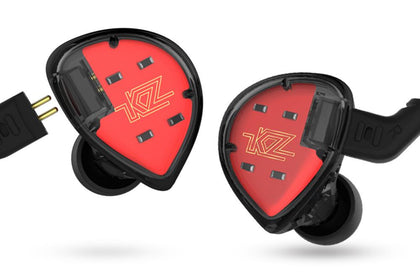 KZ ES4 1DD+1BA Earphones In Ear Monitors Earbuds HiFi Bass Noise Cancelling Earphone - SHENZHENAUDIO