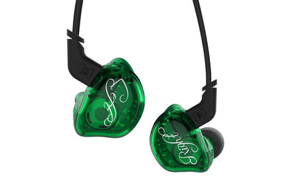 KZ ZSR 6 Unit Hybrid In Ear Earphone HIFI Bass With Replaced Cable Noise Cancelling Earphones - SHENZHENAUDIO