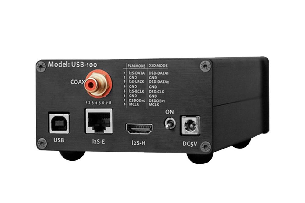 L.K.S Audio LKS USB-100 USB Audio Interface PCM384/DSD512 I2S RJ45 HDMI Coaxial out DSD512 with Crystek
