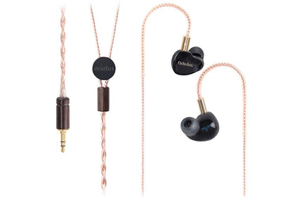 Oriolus Black Oriolus 1DD+3BA Earphone Demark Sonion BA Driver+10mm custom Dynamic Driver HiFi IEM Earphone - SHENZHENAUDIO