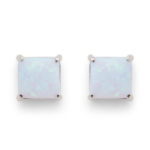 Marina Studs in Light Blue Opal - Rocksbox