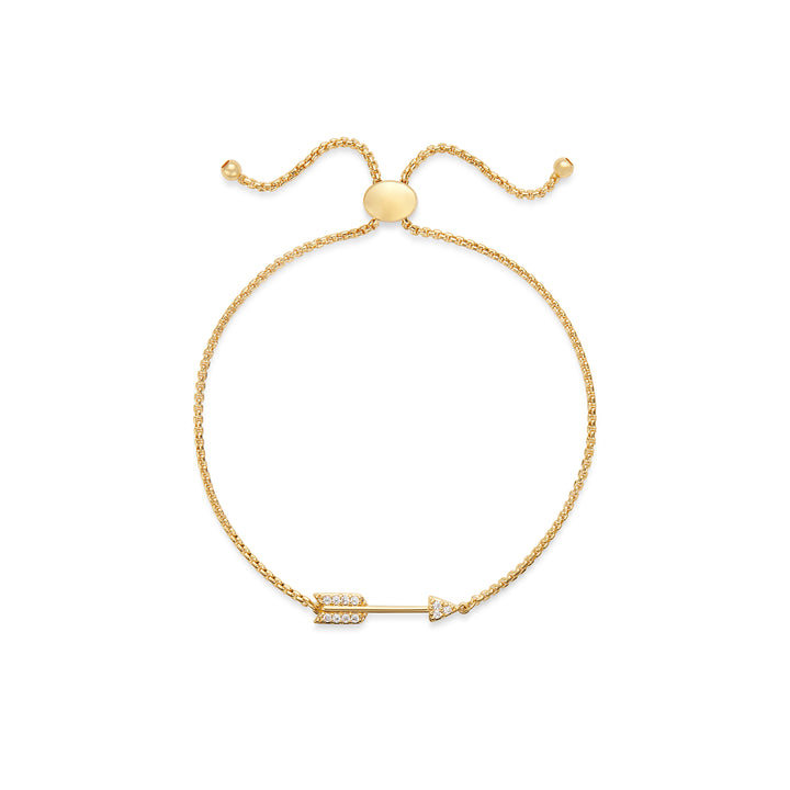 Arrow Slider Bracelet in Gold